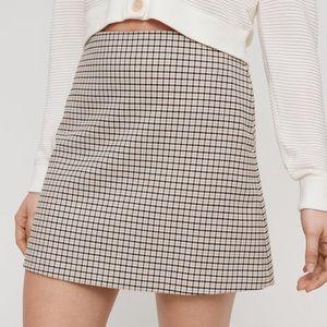 Plaid A line Mini Skirt Wilfred